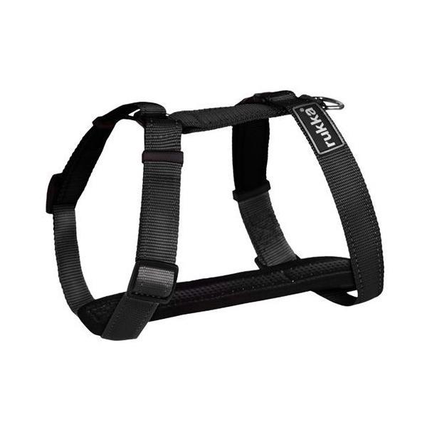 Шлейка для собак RUKKA, черная, 40мм, обхват 70-120см фото