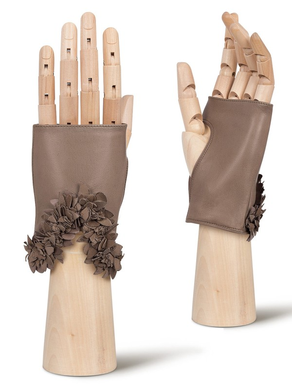 Митенки женские Eleganzza F-0250 коричневые 6