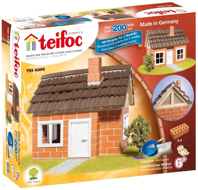 Купить Конструктор Teifoc Tei 4300 Дом с Каркасной Крышей, Игровые наборы