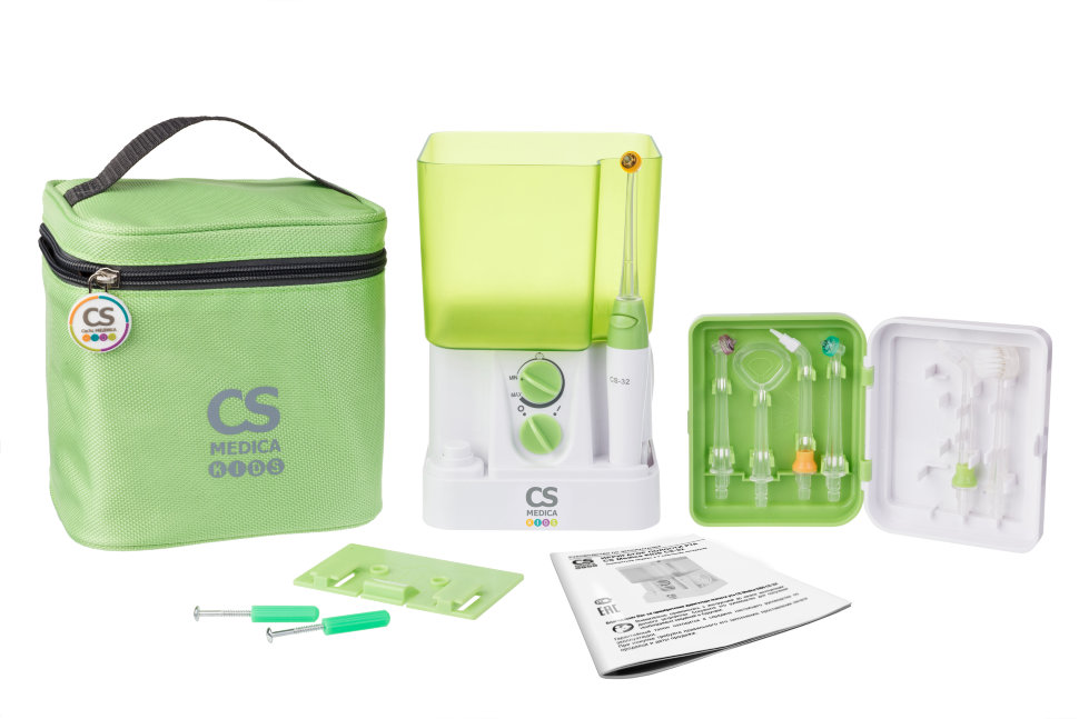 Ирригатор CS Medica KIDS CS 32 Green