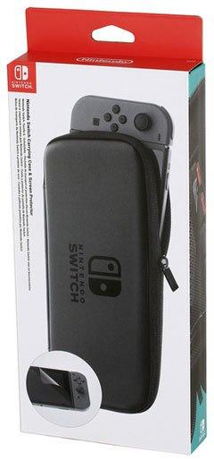Защитный чехол Nintendo Carrying Case and Screen Protector Black для Nintendo Switch фото
