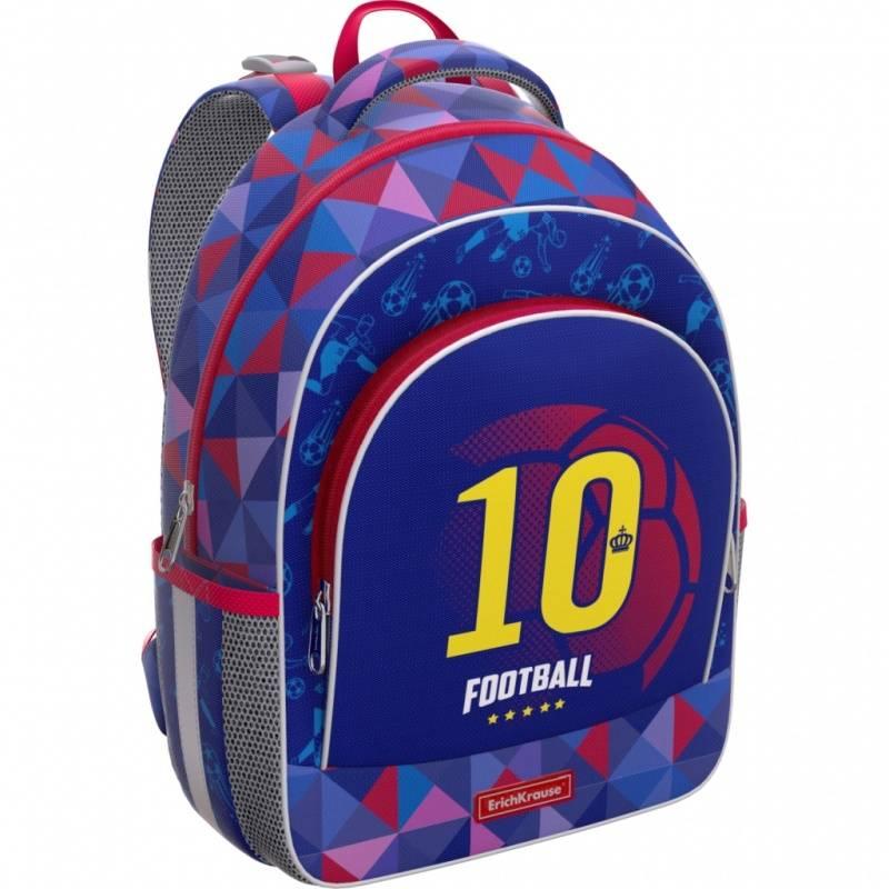 Купить Рюкзак ErgoLine 15L Football Team Erich Krause для мальчиков Синий 46231, ErichKrause, Школьные рюкзаки для мальчиков