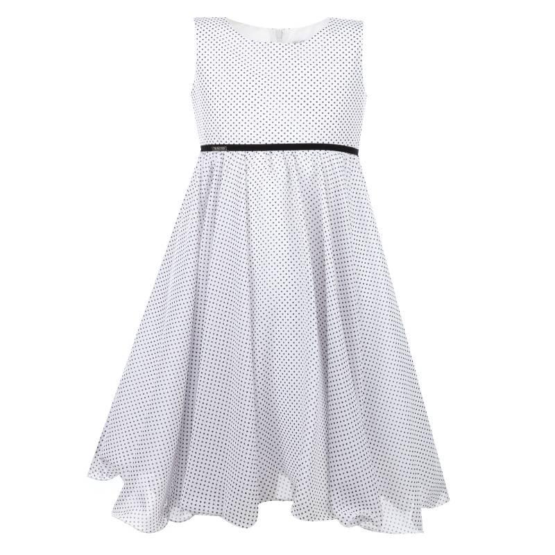 Платье Горошек UNONA D'ART, цв. белый, 116 р-р, Детские платья и сарафаны  - купить со скидкой