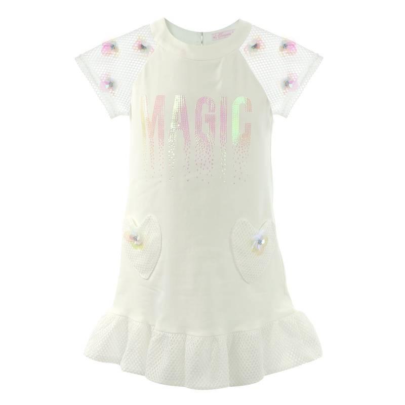 Купить Платье Choupette, цв. бежевый, 122 р-р, Детские платья и сарафаны