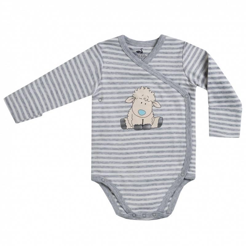 Купить DK-053, Боди Diva Kids, цв. серый, 80 р-р, Боди для новорожденных