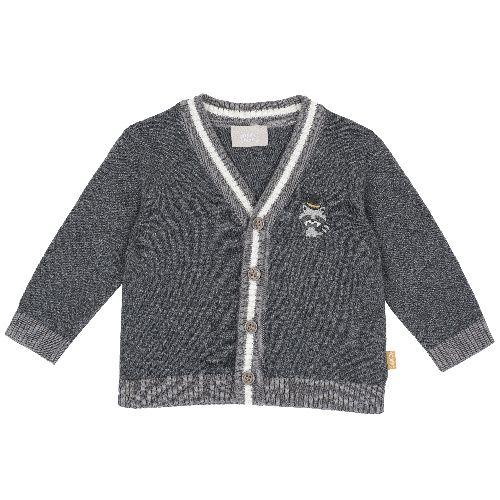 Купить 9096891, Кардиган вязаный Chicco для мальчиков р.80 цв.серый, Кофточки, футболки для новорожденных