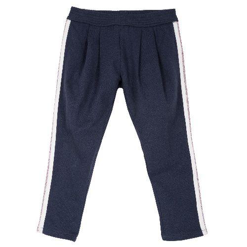 Купить 9008090, Брюки Chicco для девочек р.92 цв.темно-синий, Детские брюки и шорты