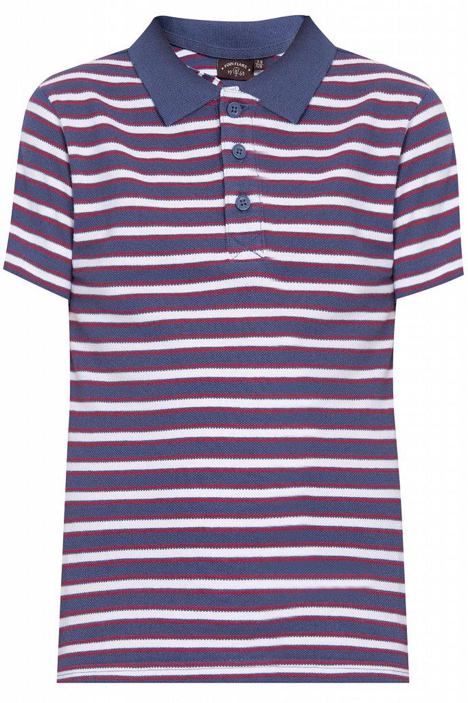 Купить KS18-81016, Футболка Поло для мальчика Finn Flare, цв. синий, р-р. 128, Детские футболки, топы