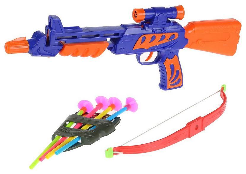 Арбалет со стрелами на присосках