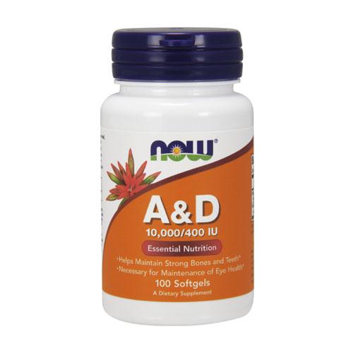Витамин A NOW Sports AD 10000/400 100 капсул