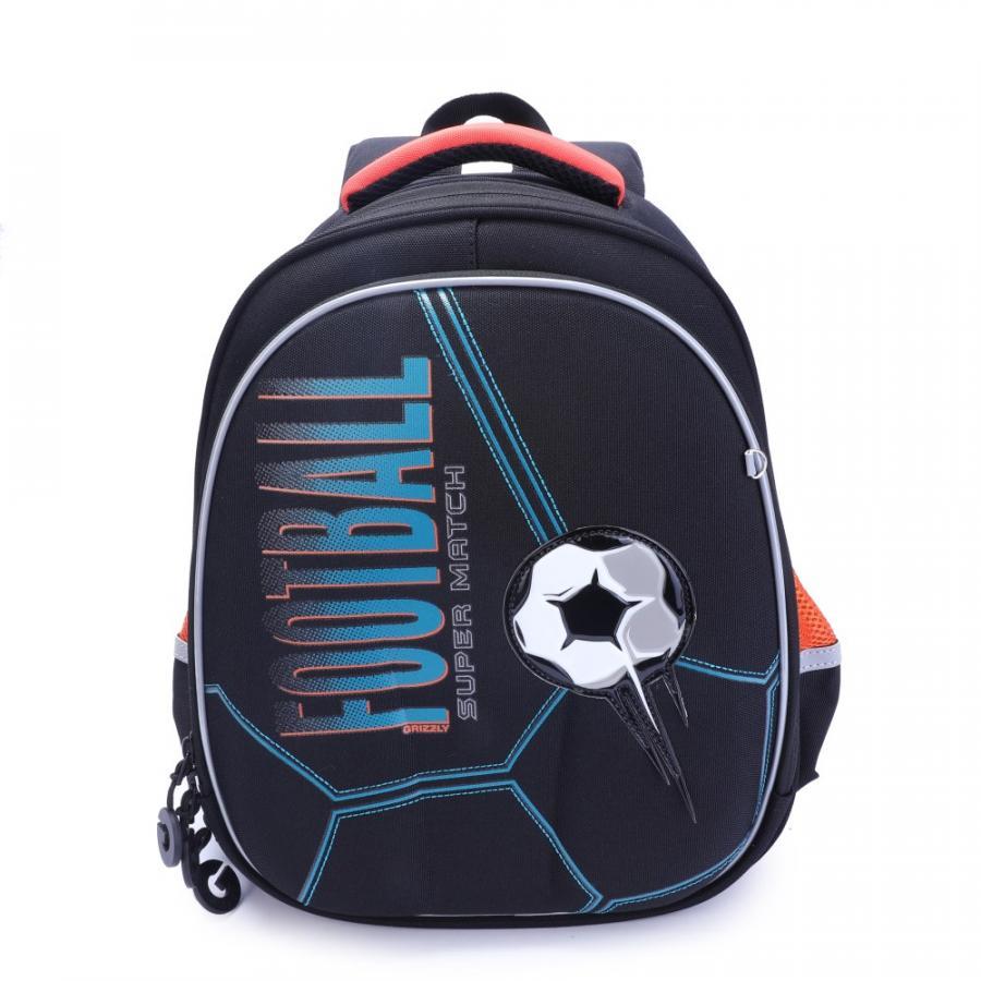 Купить Школьный рюкзак для мальчика Grizzly RA-978-5 черный, Школьные рюкзаки и ранцы
