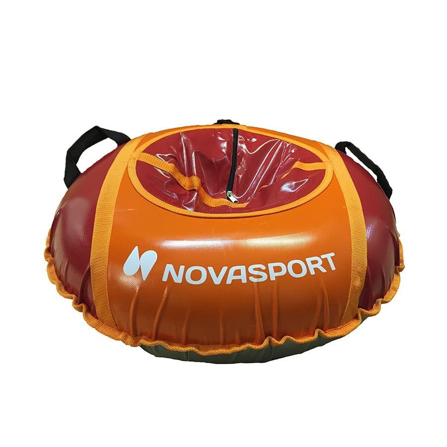 Тюбинг NovaSport 125 см с камерой в сумке CH041.125.3.1 оранжевый красный