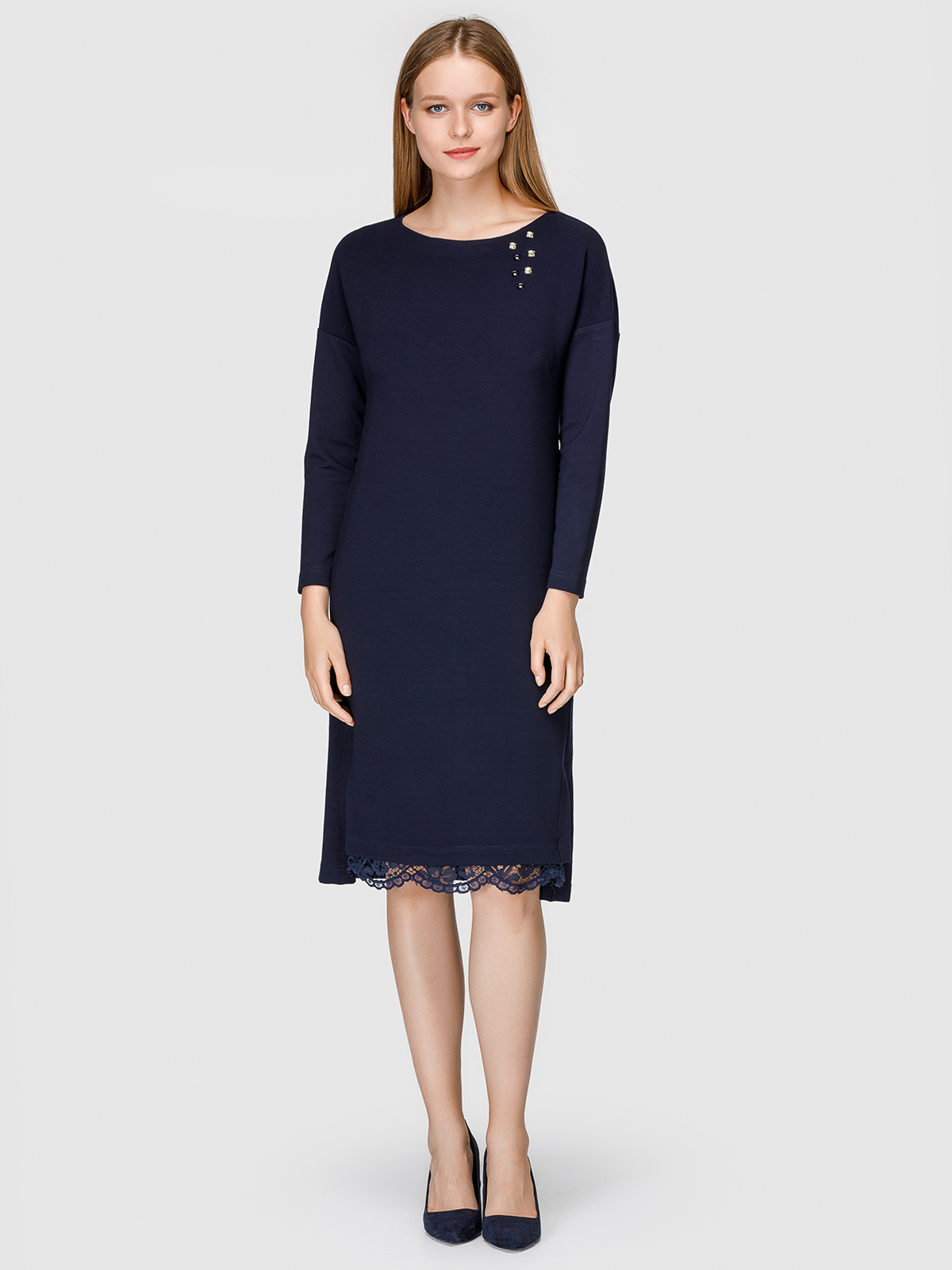 Платье женское Helmidge 7501 синее 26 UK фото