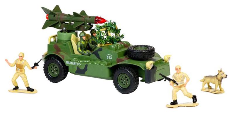 Купить Военный джип на радиоуправлении Mioshi Army , с ракетной установкой, 30 см, Радиоуправляемые машинки
