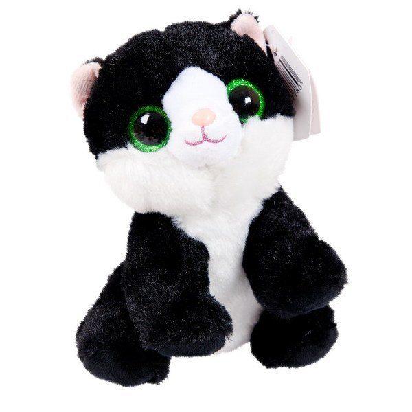 Купить Мягкая игрушка ABtoys Кот чёрный, 15 см, Мягкие игрушки животные