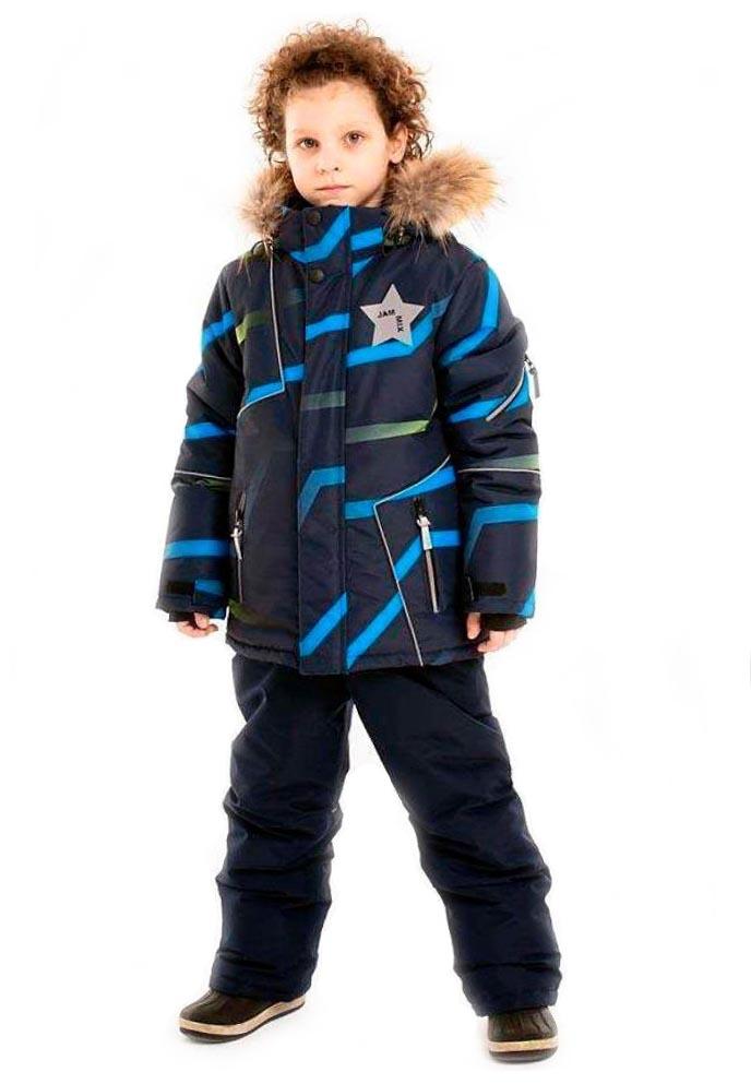 Купить Комплект Stella Волны зимний черный, мембрана М-491/1, размер 146, Комплекты верхней одежды для мальчиков