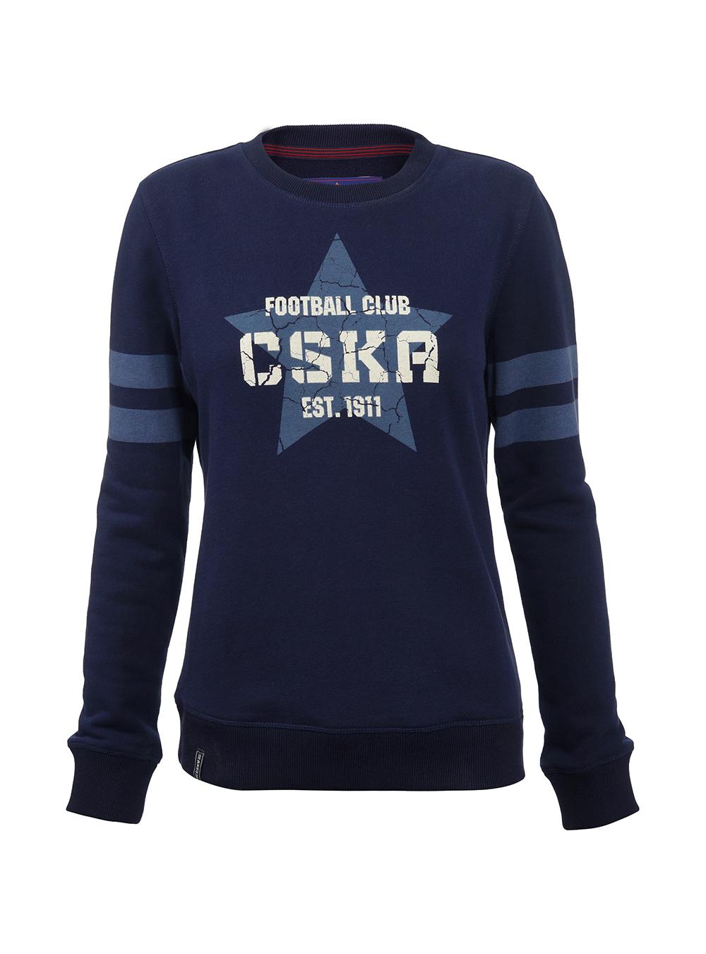 Свитшот ПФК ЦСКА Звезда, синий, S фото