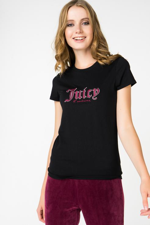 Футболка женская Juicy by Juicy Couture WTKT161225/009 черная XS фото