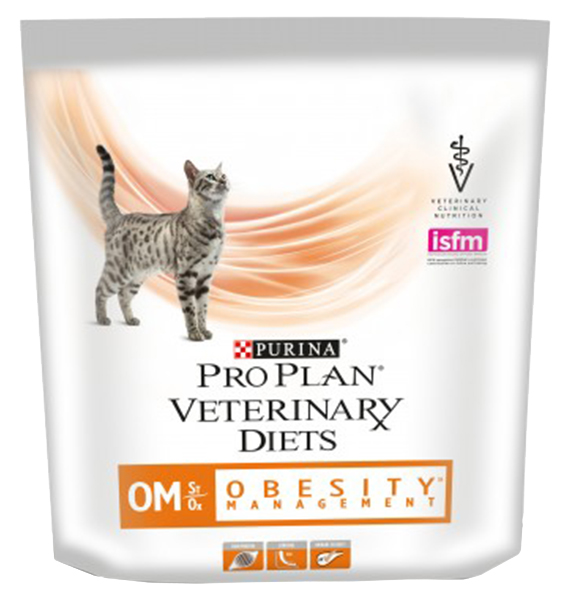 Сухой корм для кошек Pro Plan Veterinary Diets OM Obesity Management, при ожирении, 0,35кг фото