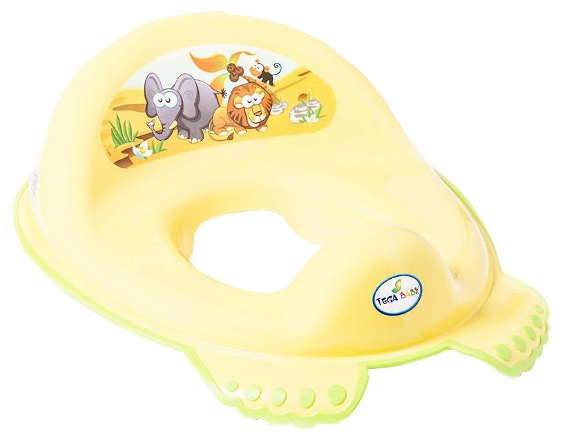 Купить Накладка Тега на унитаз сафари антискользящая желтый, Tega Baby, Детская накладка на унитаз