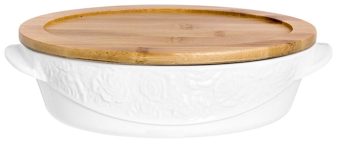 Блюдо Elan Gallery 860036 Белый, коричневый