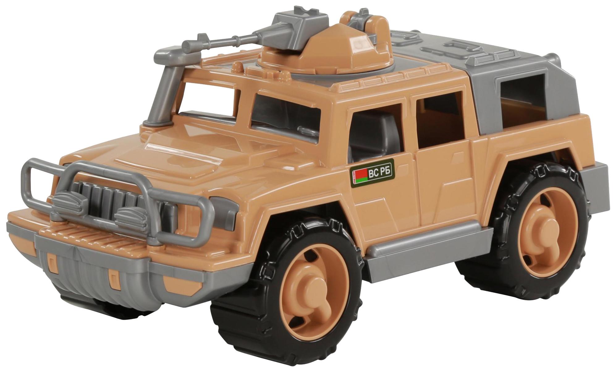 Купить Игрушки, Автомобиль-джип Полесье военный Защитник-Сафари с 1-м пулемётом, Игрушечные машинки