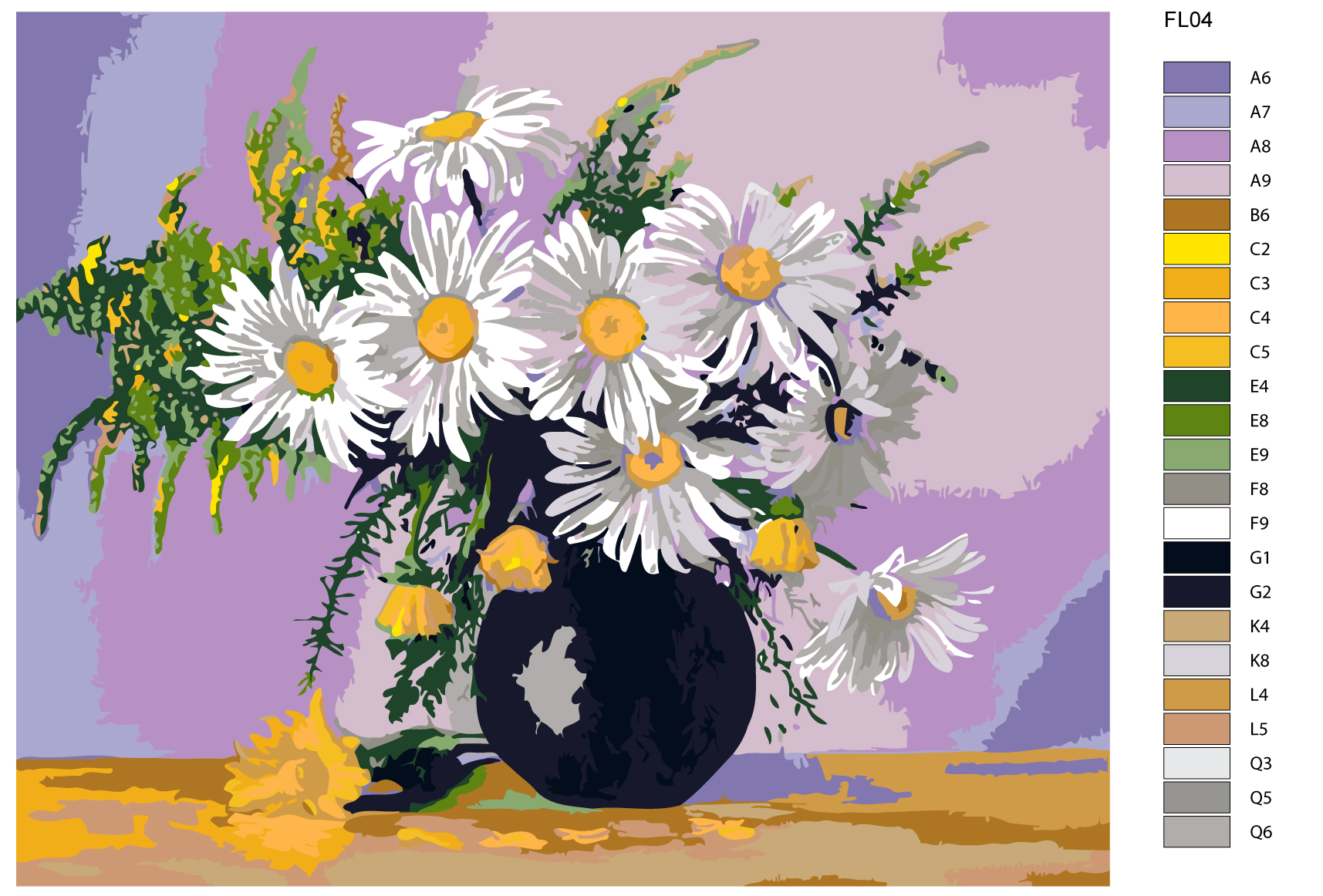 Приколы понос, картинки композиции цветов ромашки нарисованные