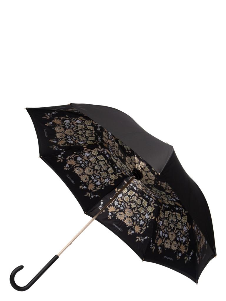 Зонт-трость женский механический Eleganzza 01-00029248 разноцветный/черный