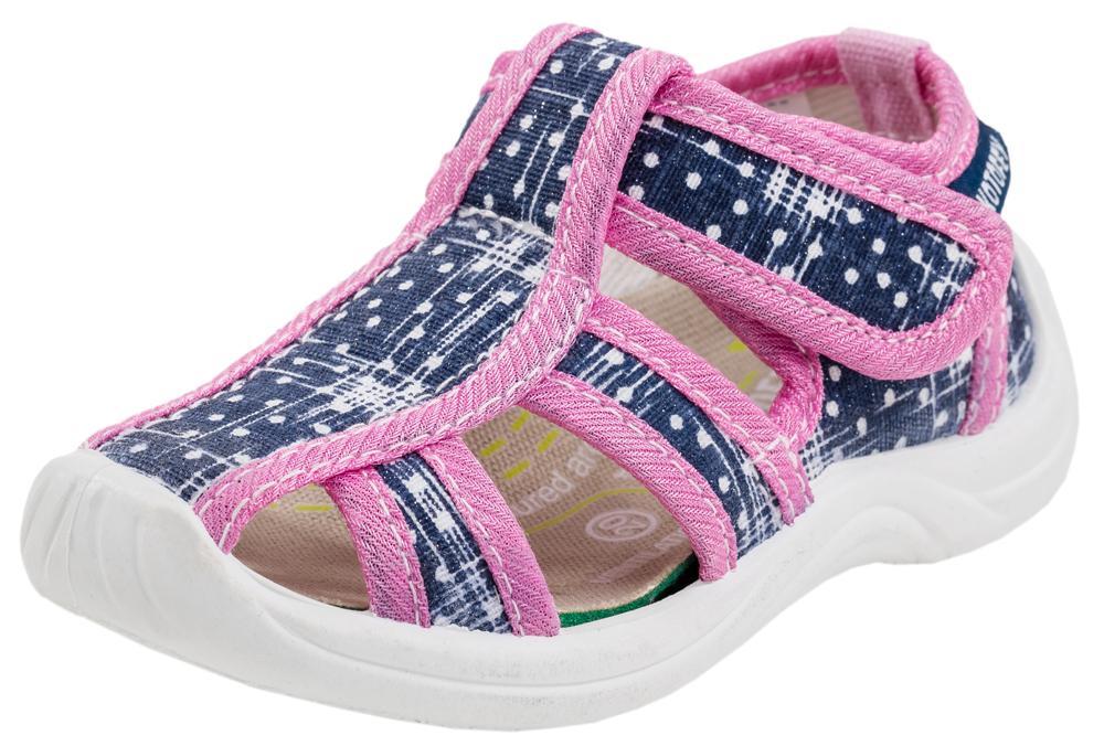 Купить Сандалии Котофей 121025-11 для девочек синий р.21, Детские сандалии