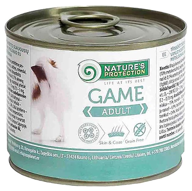 Консервы для собак Nature's Protection Adult Game, дичь, 800 г фото