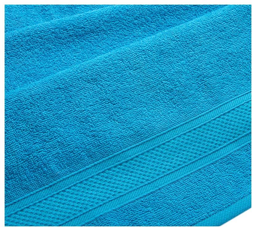 Полотенце махровое с бордюром (голубое) 50х90
