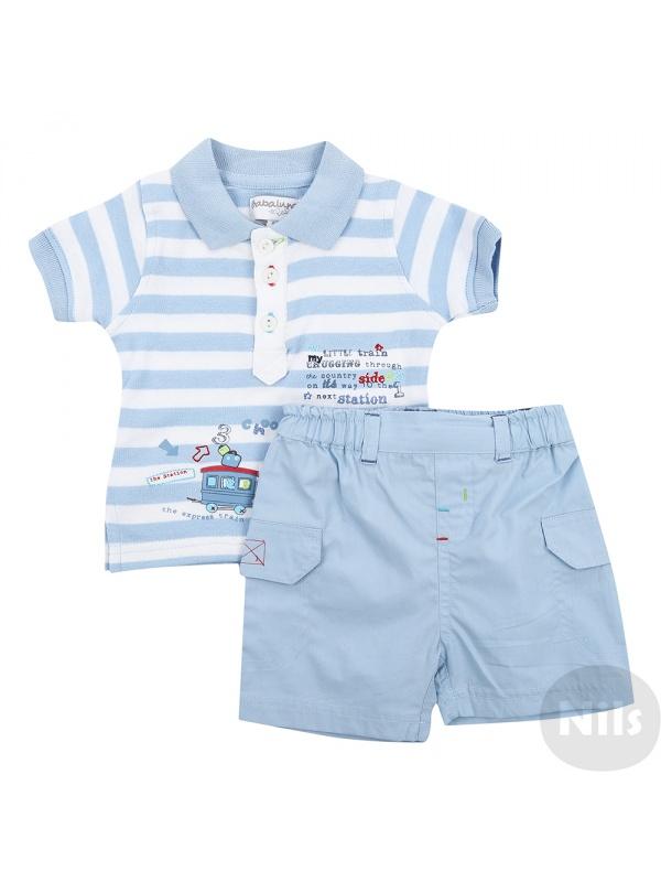 Комплект одежды детский BABALUNO голубой р.56