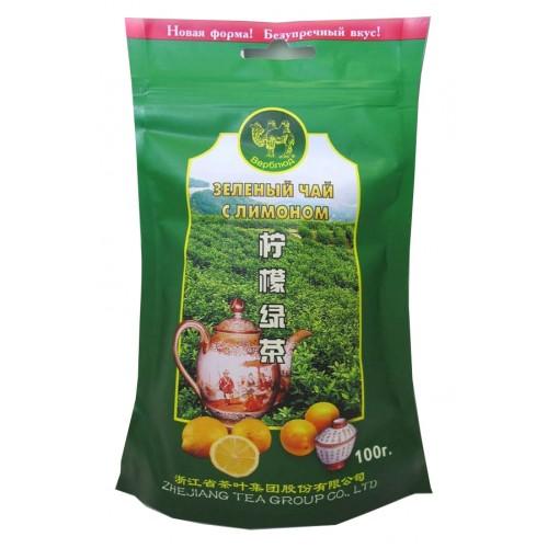Чай зеленый листовой Верблюд лимон 100 г
