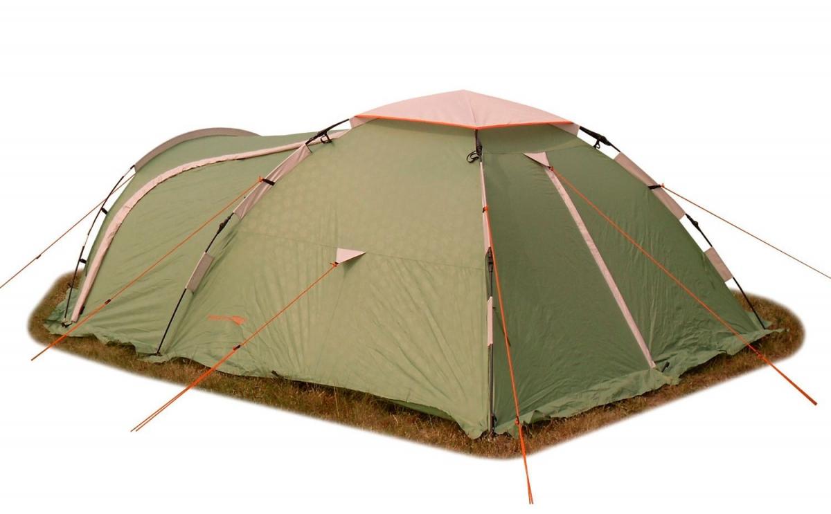 Палатка-автомат Maverick Itera трехместная зеленая