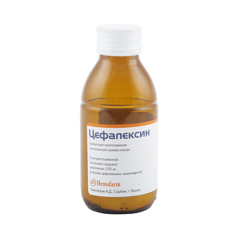 Цефалексин гранулы для суспензии 250 мг/5 мл 40 г