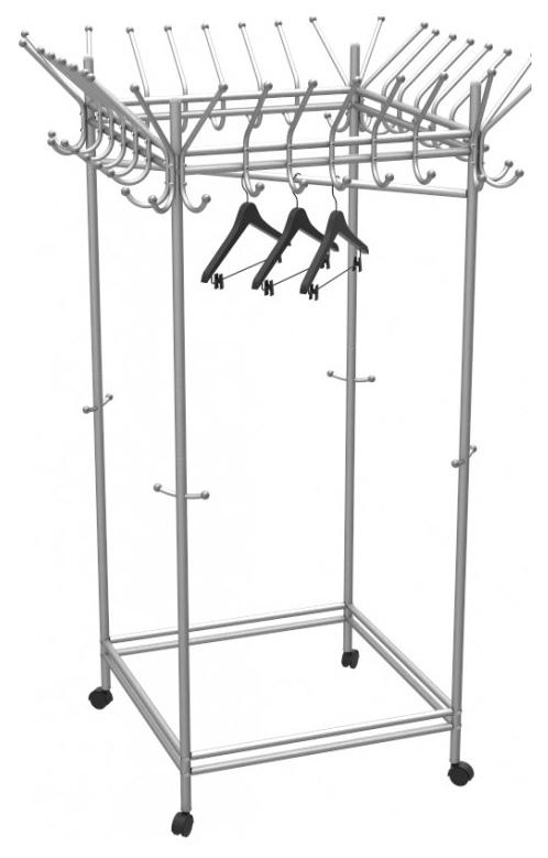 Вешалка Мебелик напольная Пико 23 Металлик