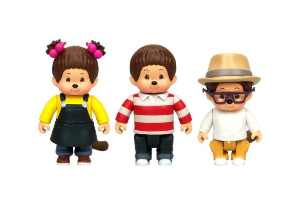 Купить Набор фигурок Monchhichi Каури, Ханна, Вилли 7, 5 см, Игровые наборы