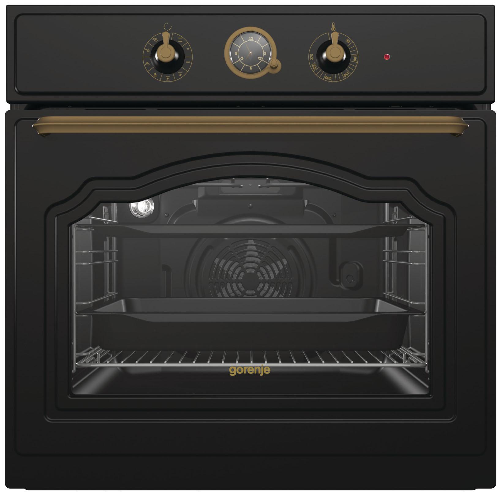 Встраиваемый электрический духовой шкаф Gorenje BO7530CLB Black фото