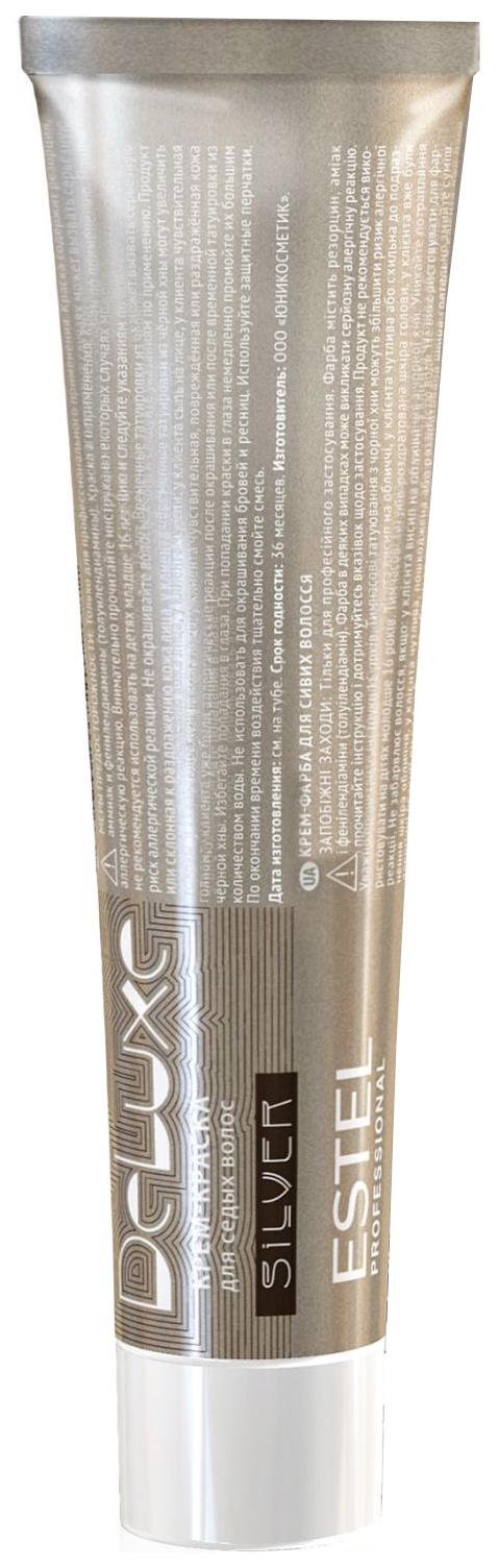 Краска для волос Estel Professional De Luxe Silver 4-7 Шатен коричневый 60 мл