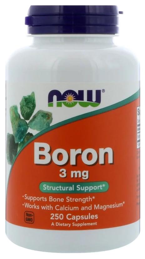 Купить Добавка для здоровья NOW Boron 250 капс. натуральный
