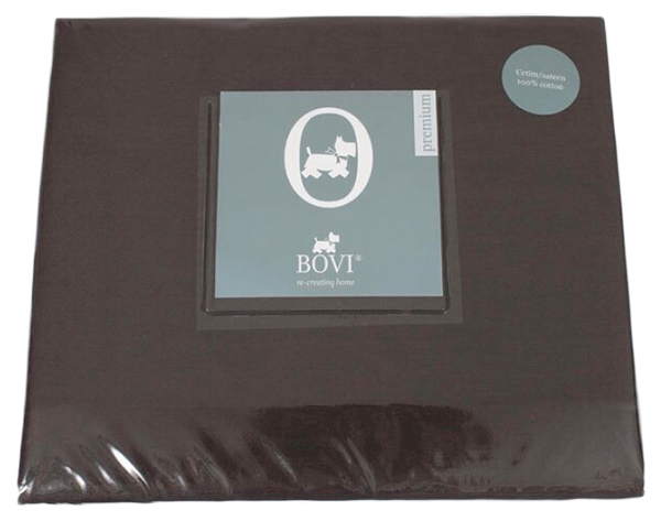 Простыня на резинке BOVI Шоколад 180x200 см