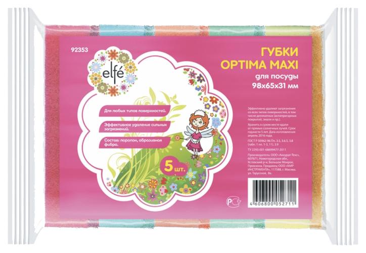 Губки для посуды Elfe optima maxi