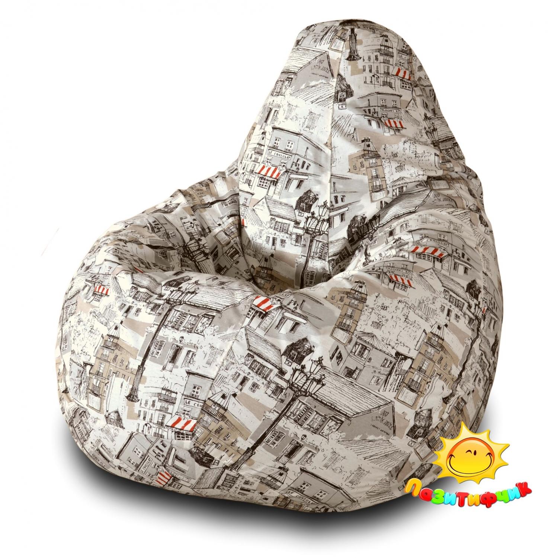 Кресло-мешок Pazitif Груша Пазитифчик Мезонс 01, размер M, жаккард, разноцветный