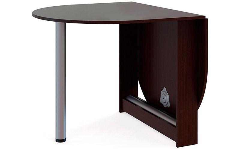 Кухонный стол Divan.ru 74х86х90 см, коричневый/серебристый