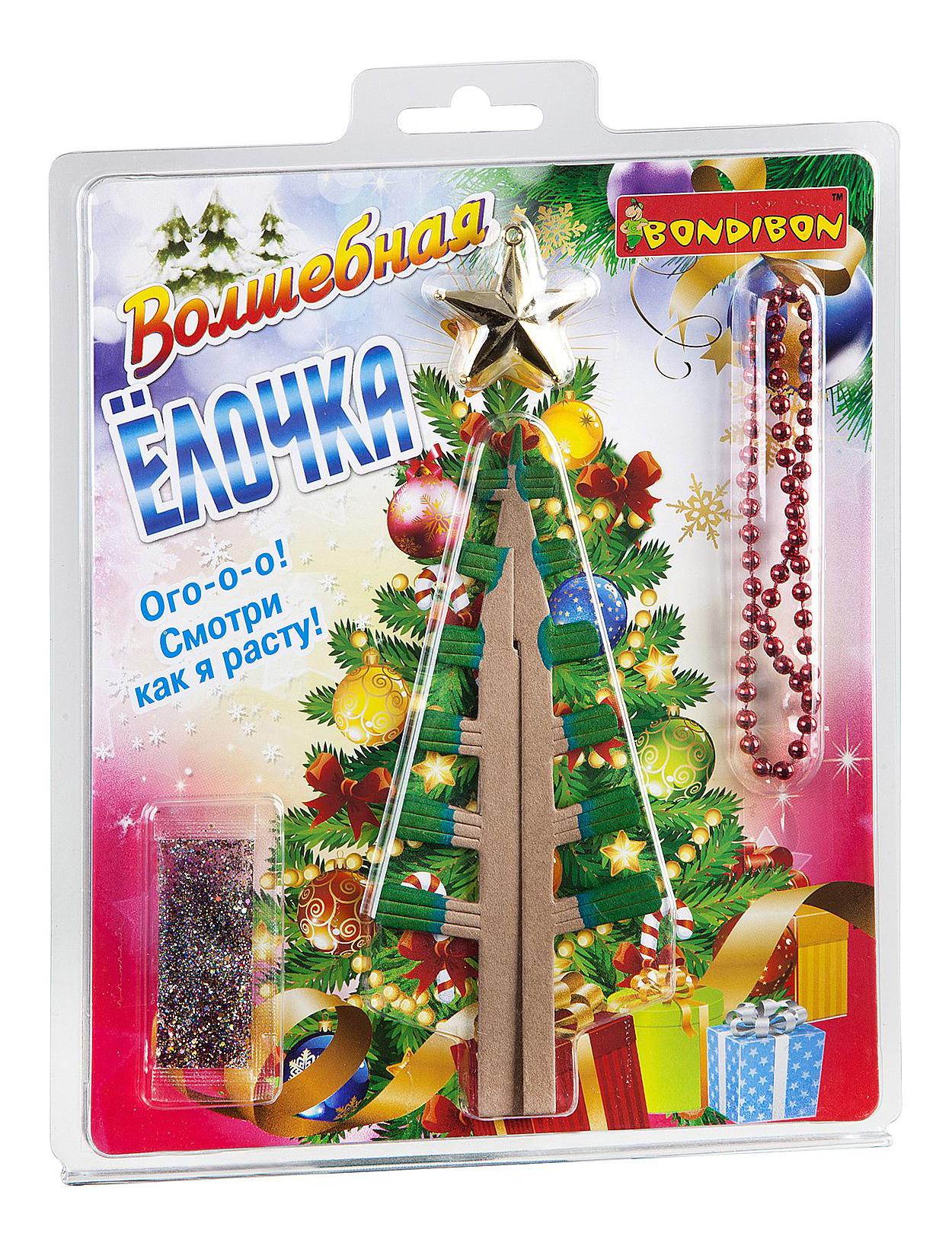 Купить Набор для выращивания кристаллов Bondibon Волшебная Ёлочка, Наборы для выращивания кристаллов