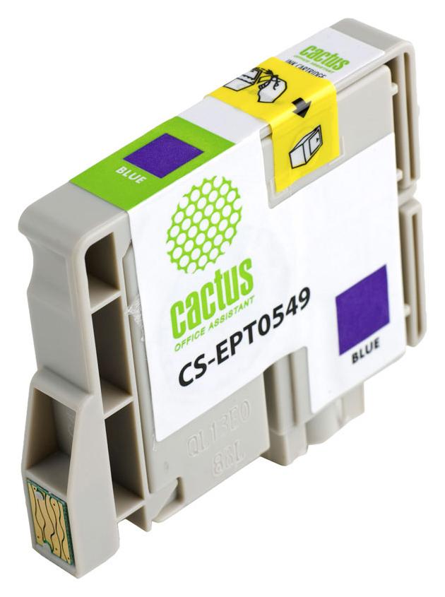 Картридж для струйного принтера Cactus CS-EPT0549 голубой