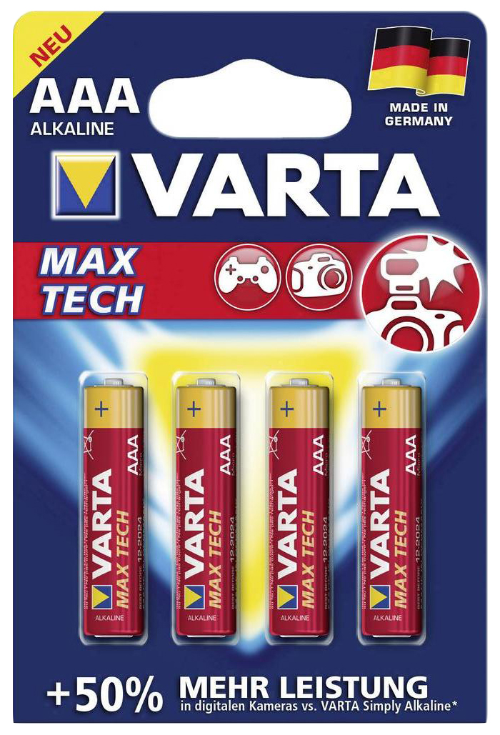 Батарейка Varta Max Tech AAA 4 шт
