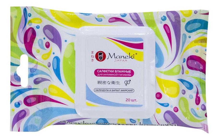 Влажные салфетки Maneki для интимной гигиены 1уп