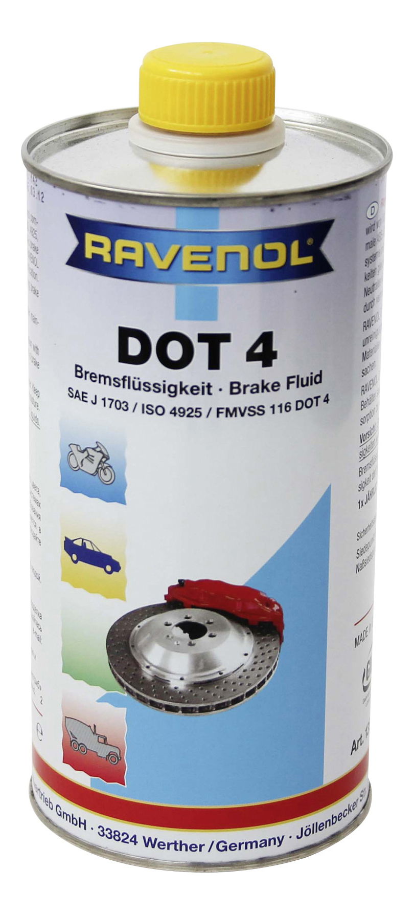 Тормозная жидкость RAVENOL DOT 4 1л 1350601-001-01-000 фото