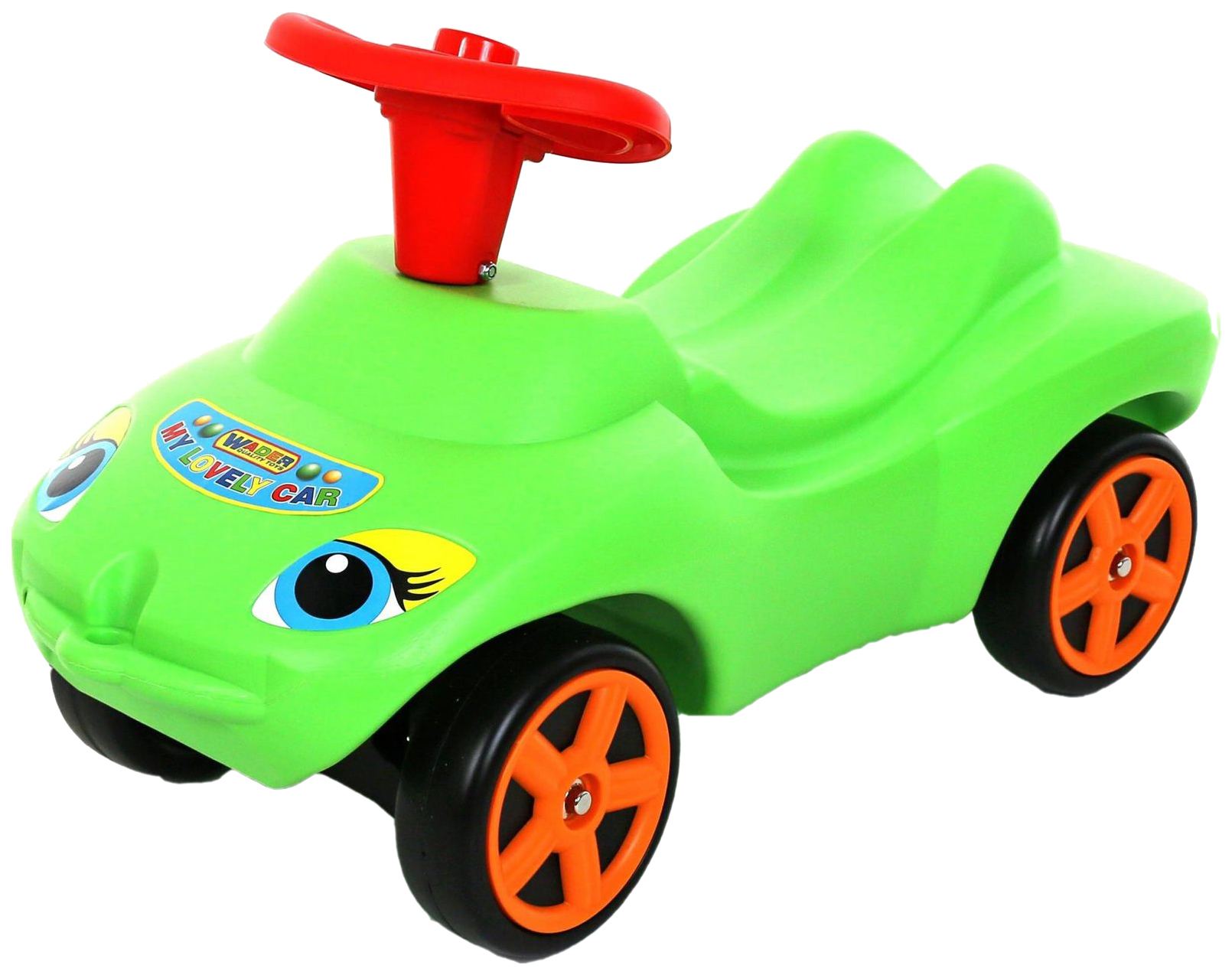 Каталка MOLTO Мой любимый автомобиль со звуковым сигналом зеленый (44617_PLS) фото